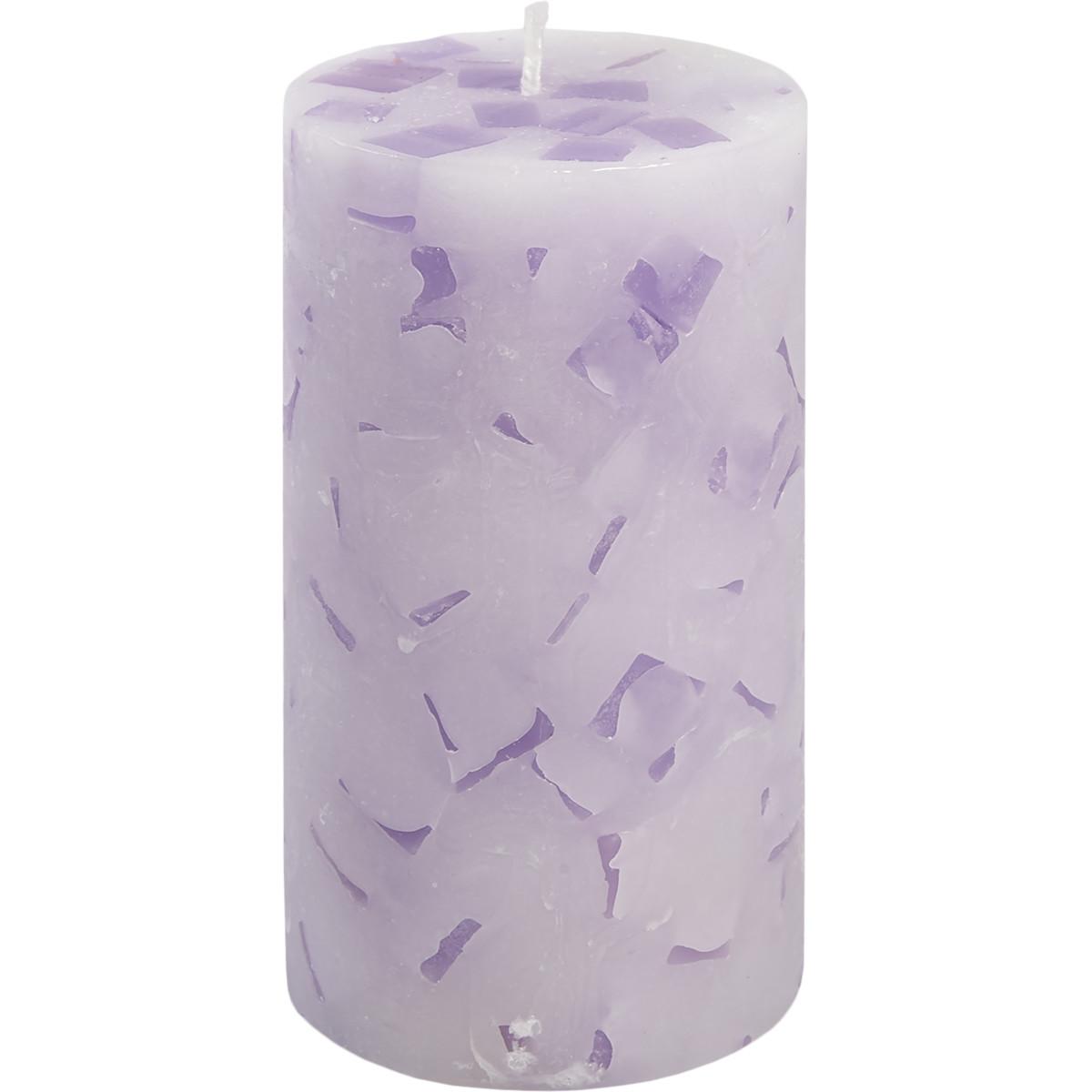 Свеча-столбик Меланж 7x13 см аромат лаванда