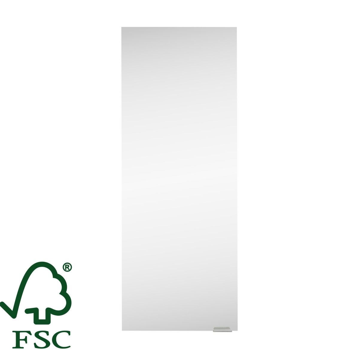 Фасад шкафа подвесного Смарт 30x80 см зеркало