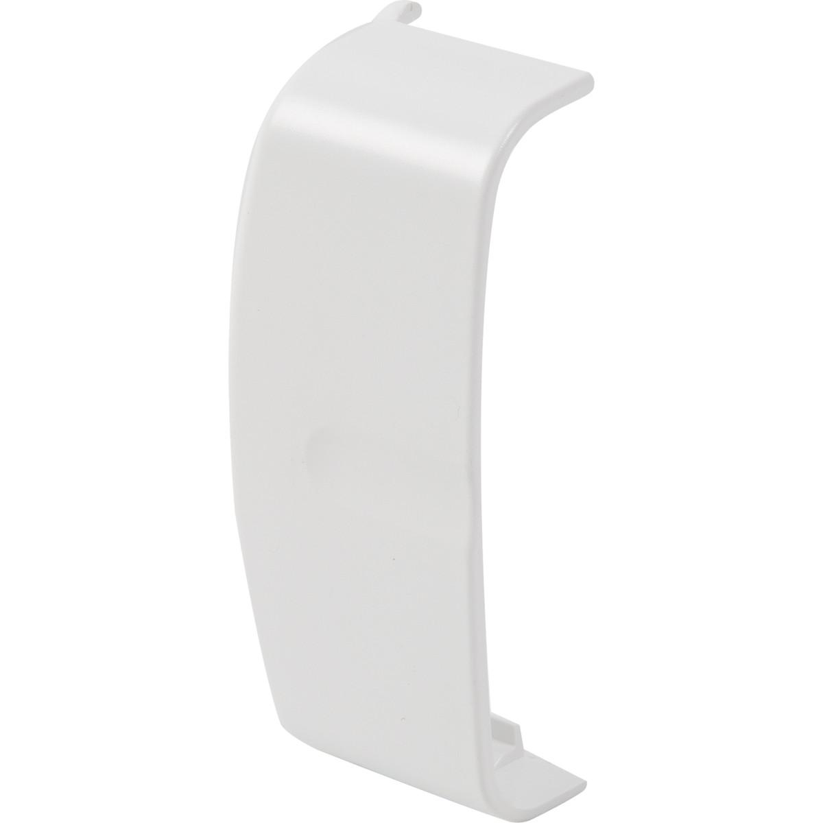 Заглушка 80x20 мм цвет белый