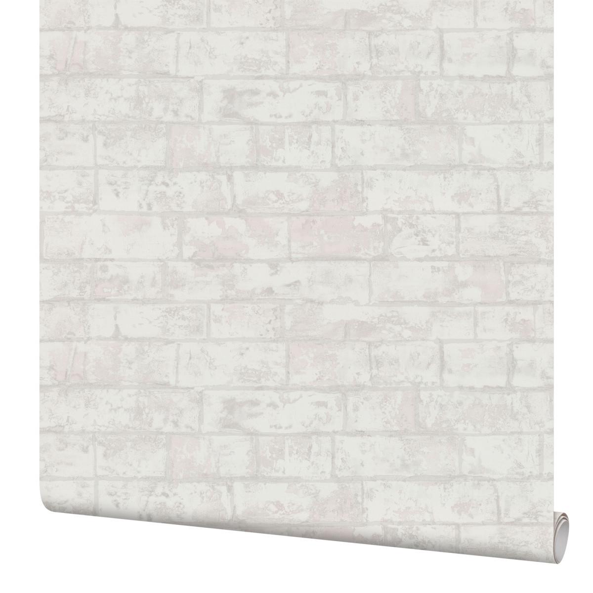Обои флизелиновые Палитра Brick белые 1.06 м PL71412-11