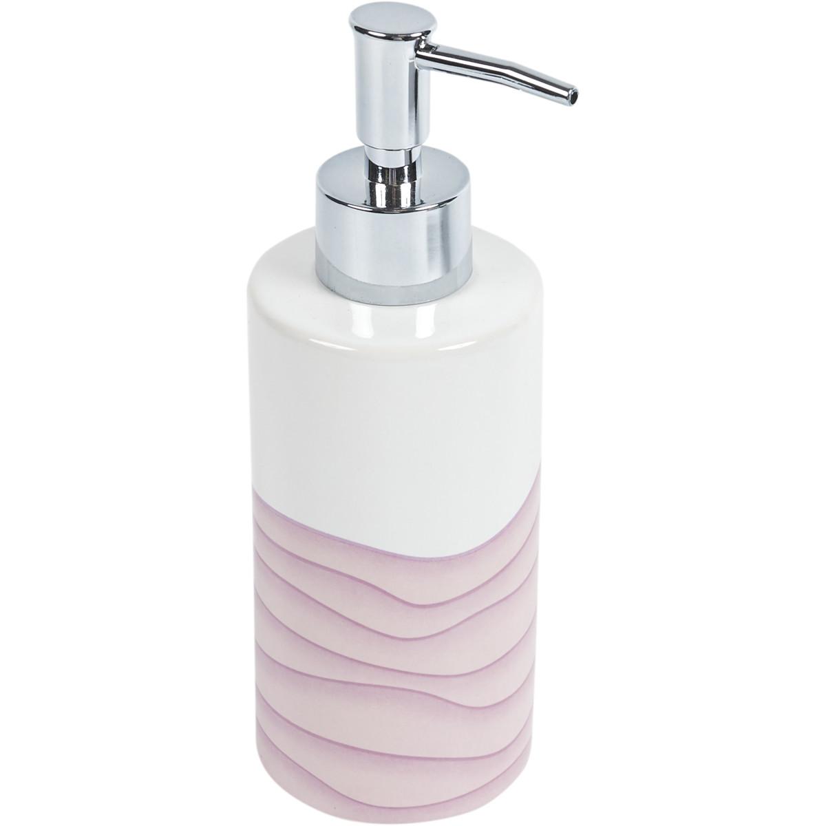 Диспенсер для жидкого мыла Agat керамика цвет розовый