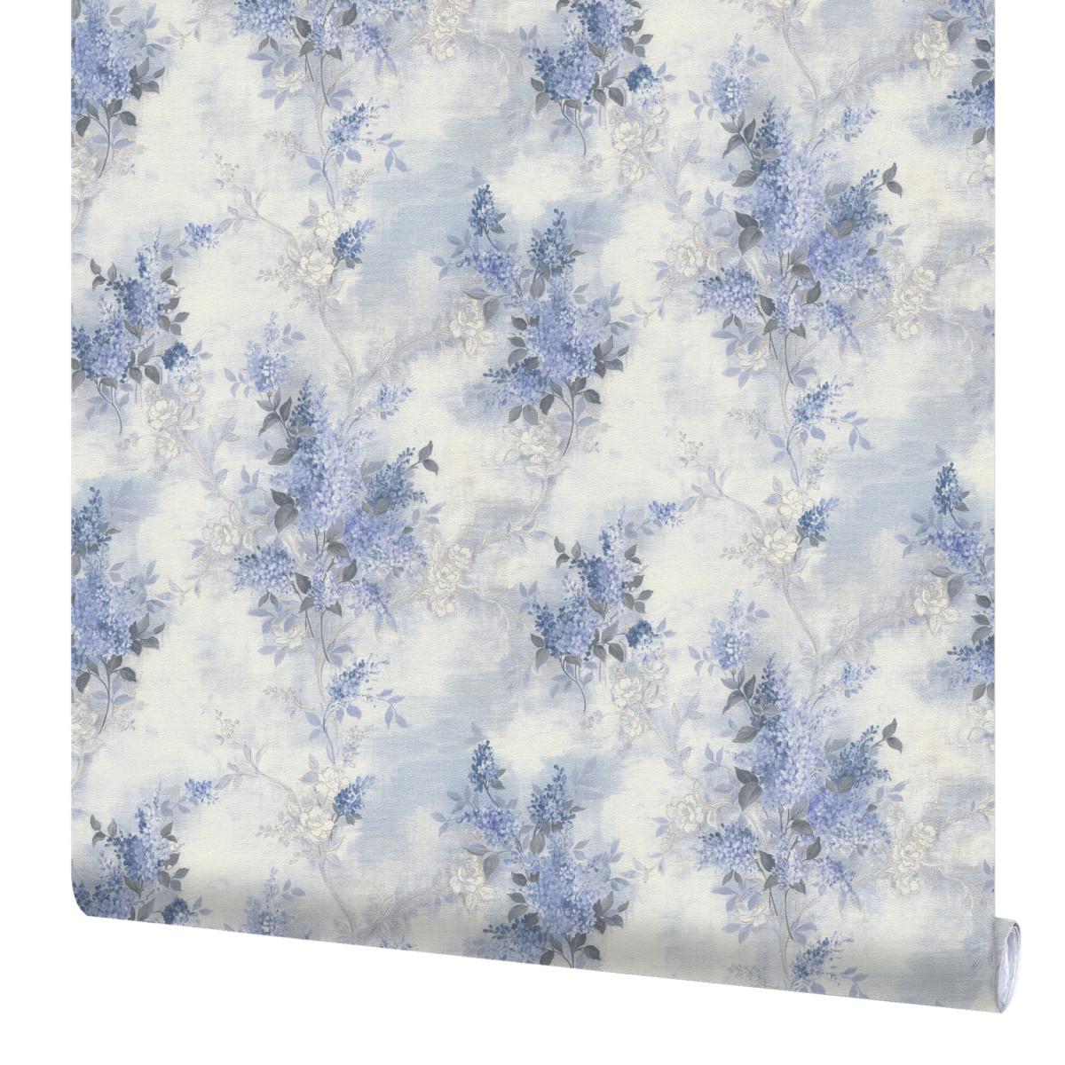 Обои флизелиновые Mistelo Сирень синие 1304-3 1.06 м