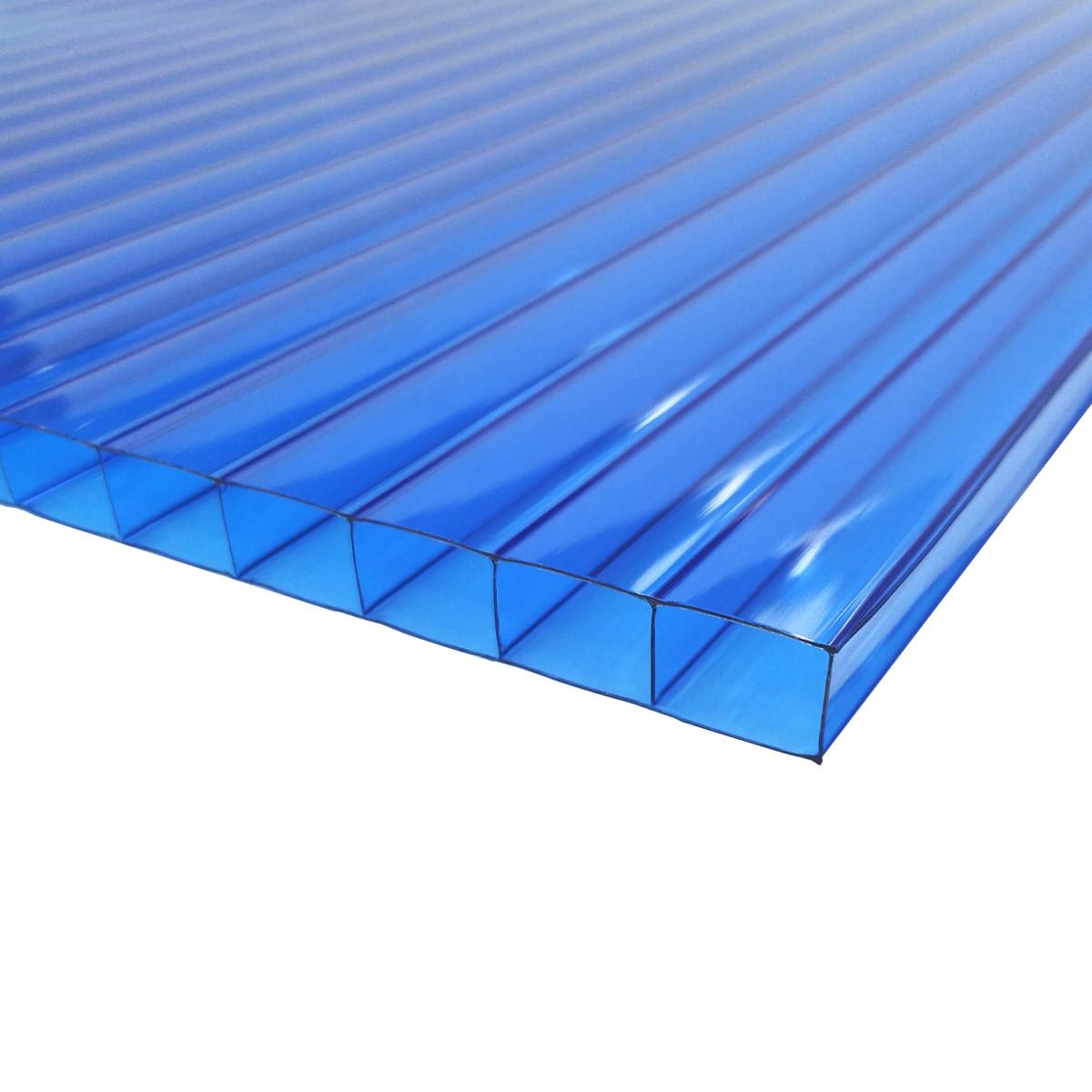 Поликарбонат сотовый 3000х2100х8 мм синий