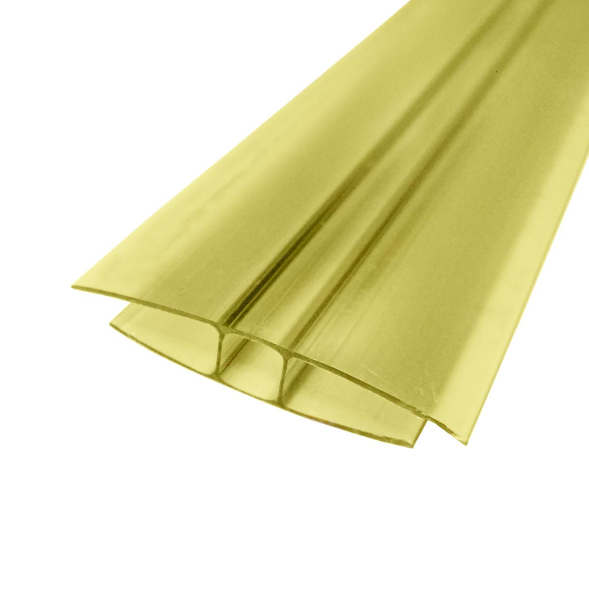Профиль соединительный неразъемный 8 мм 3 м желтый