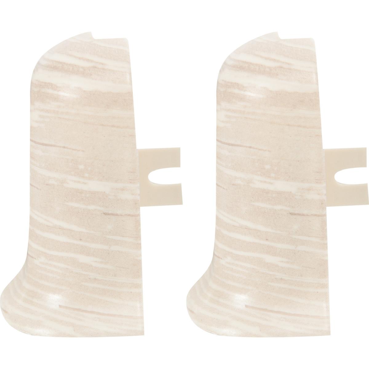 Угол для плинтуса внешний Дуб Алмере высота 56 мм 2 шт
