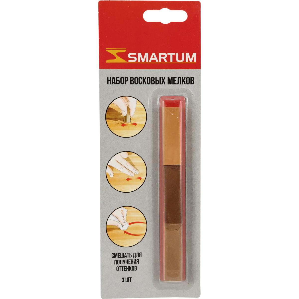 Набор мелков восковых оттенки светло-коричневые 3 шт.