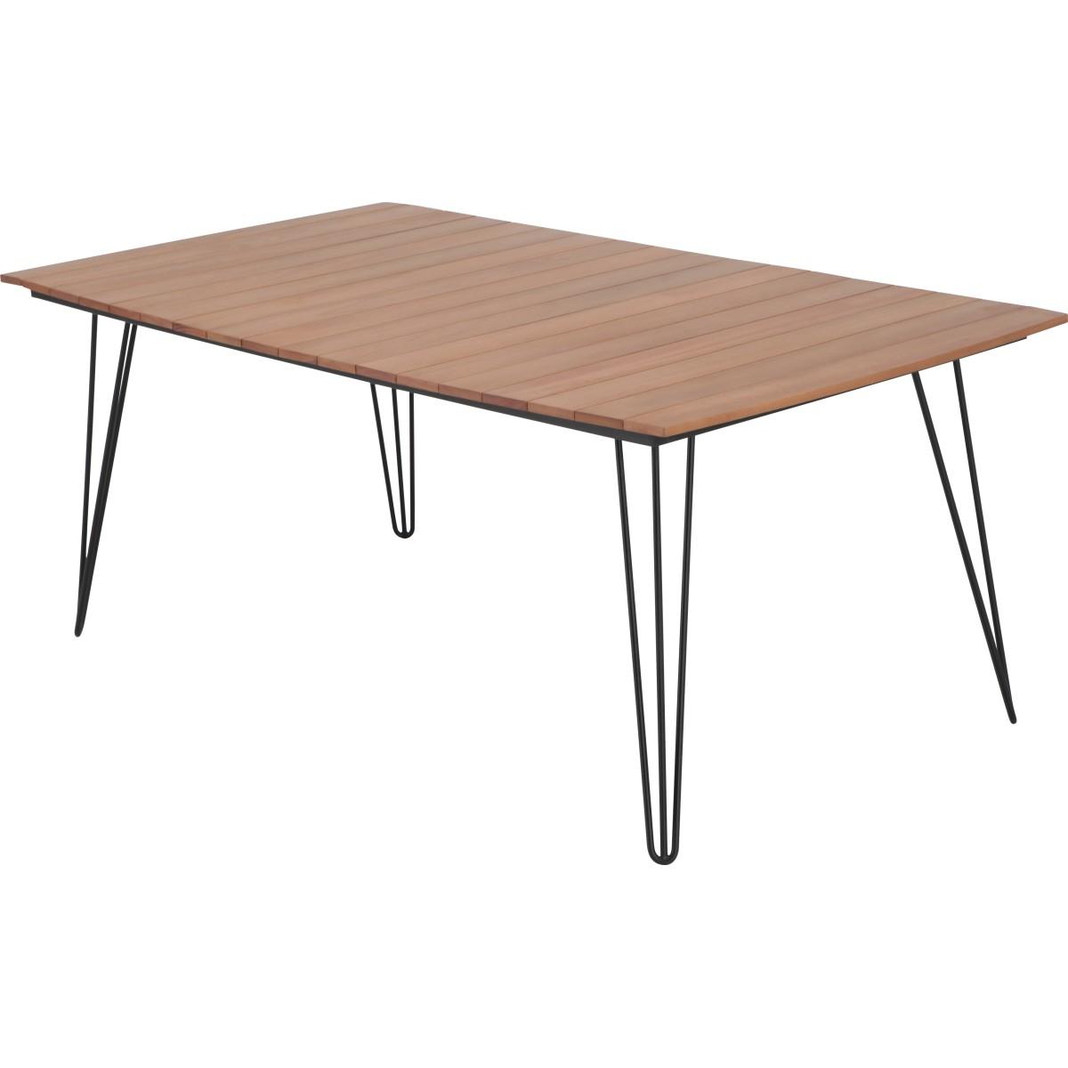 Стол садовый 180x99х75 см эвкалипт черный/ коричневый
