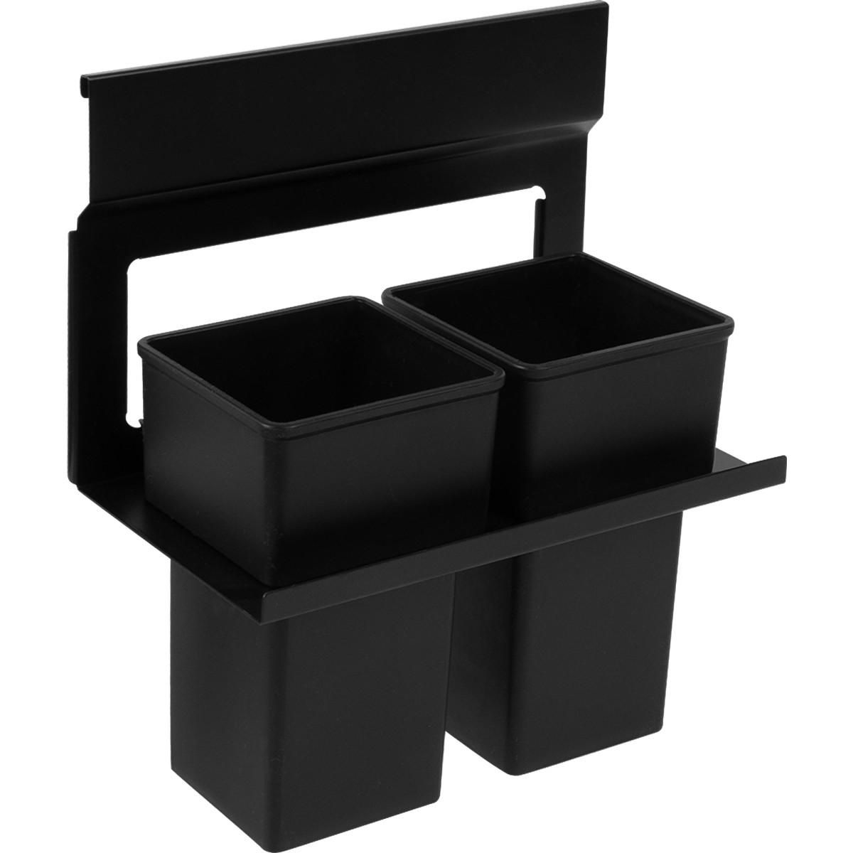 Держатель двух стаканов Lund для рейлинга металл/пластик цвет черный