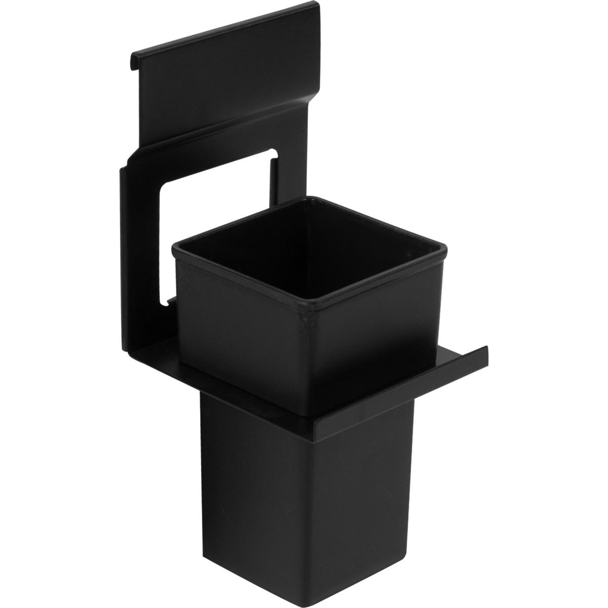 Держатель стакана Lund для рейлинга металл/пластик цвет черный
