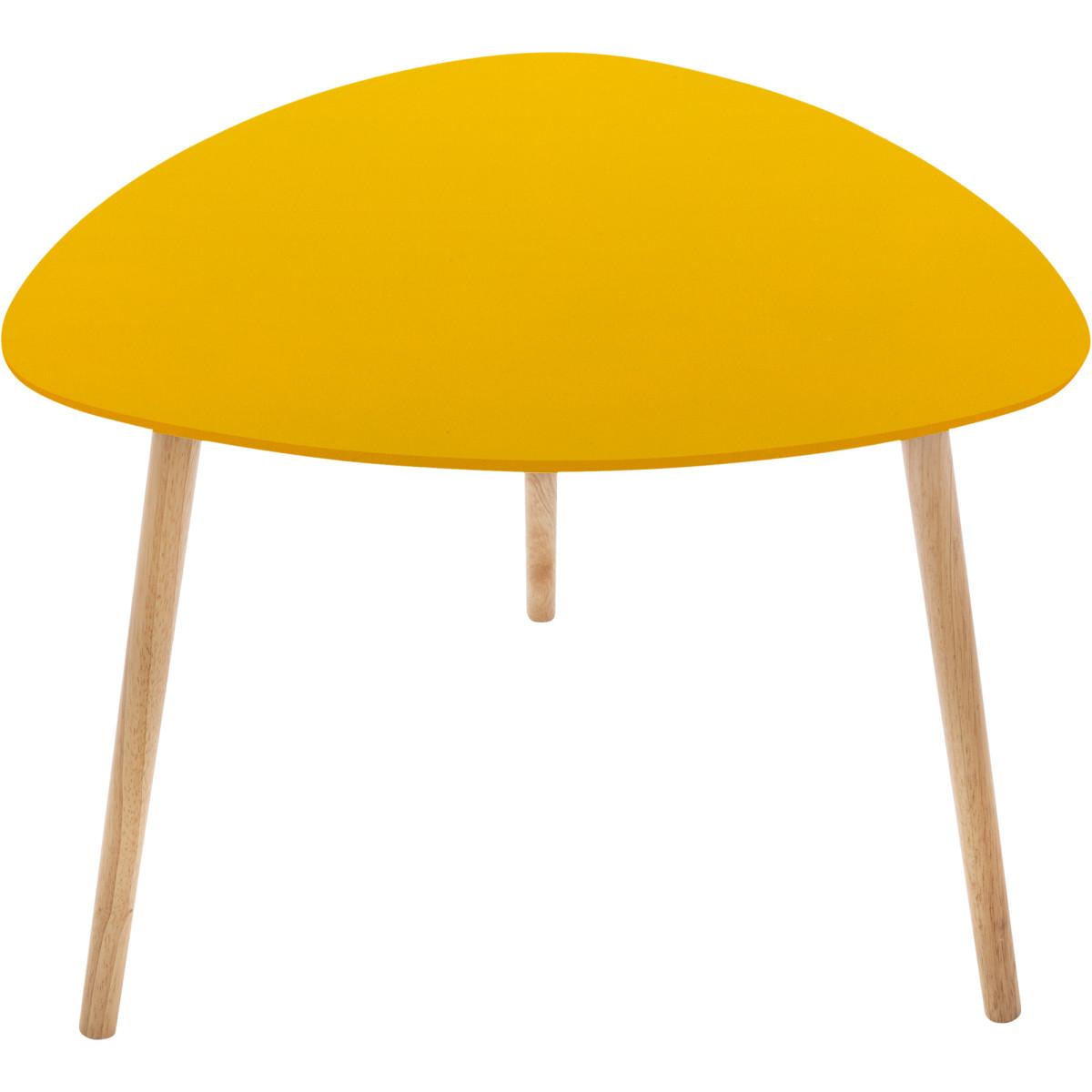 Столик Mileo цвет горчица
