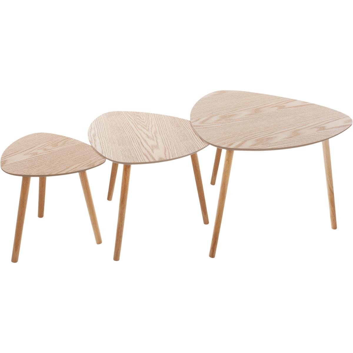 Набор кофейных столиков Mileo цвет бежевый