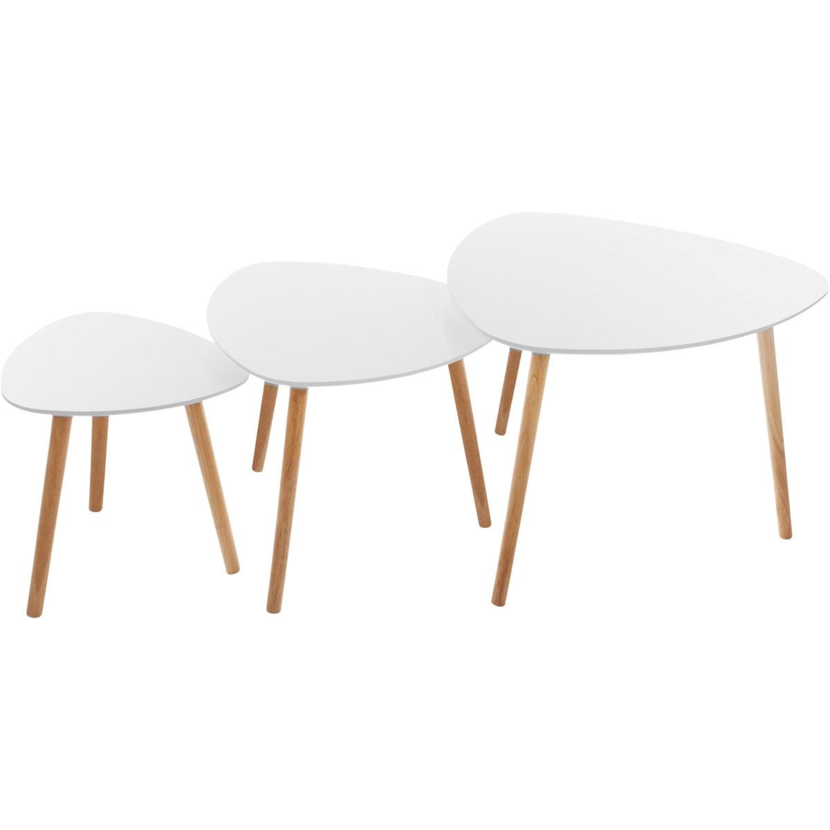 Набор столиков Mileo цвет белый 3 шт.