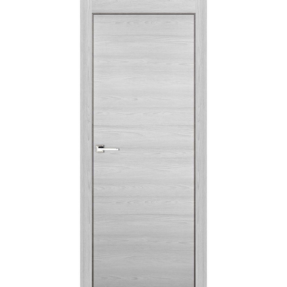 Дверь межкомнатная глухая 90x200 см ламинация цвет ясень серый