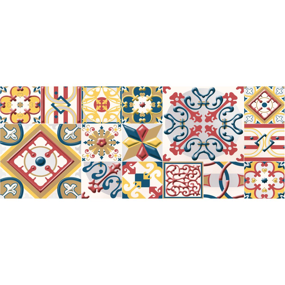 Декор настенный Azori «Festa Maiolica» 20.1x50.5 см разноцветный