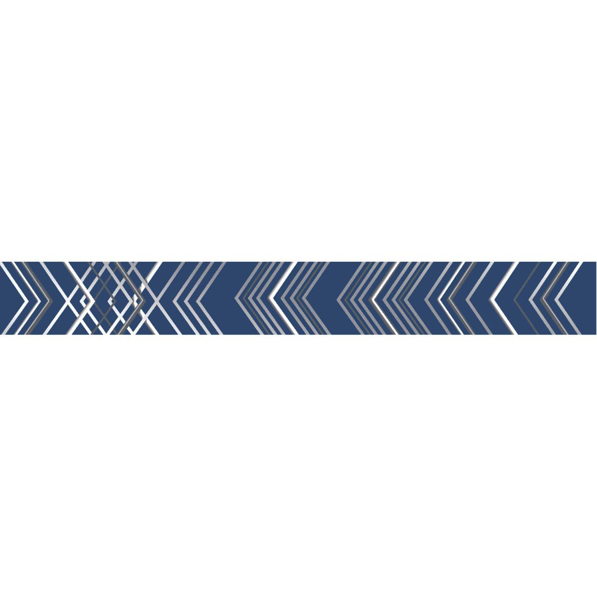 Бордюр настенный Azori «Festa» 50.6x6.2 см цвет синий индиго