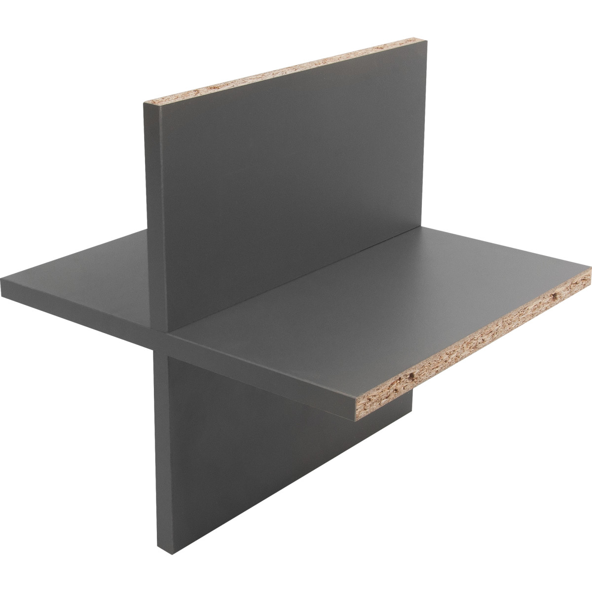 Вставка крестовая КУБ 33x31.5 см ДСП цвет графит