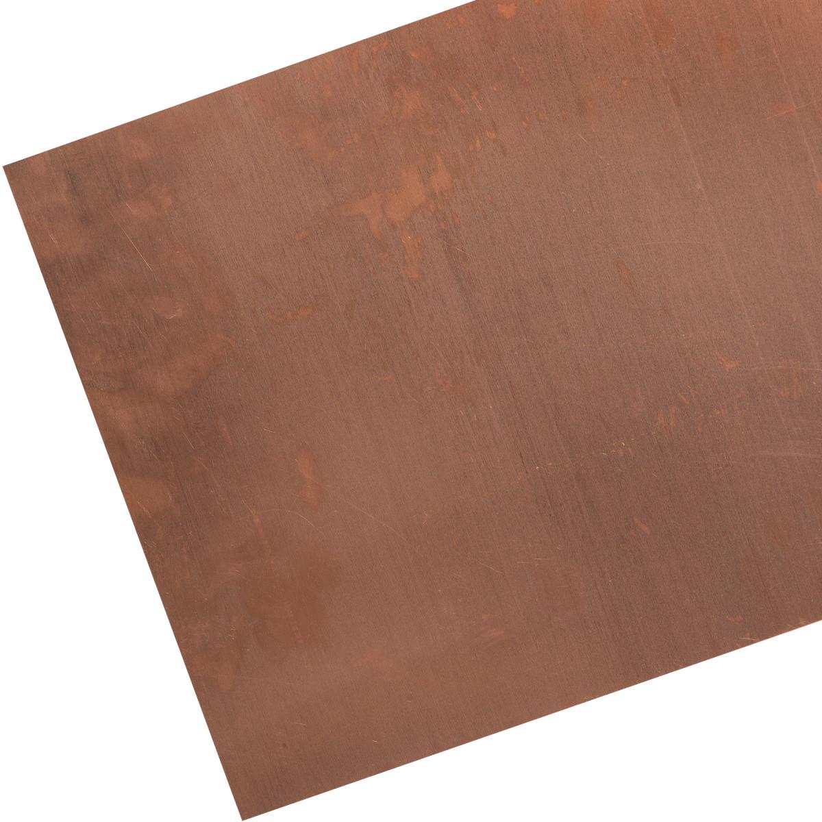 Лист гладкий М1 0.5x600x1200 мм медь