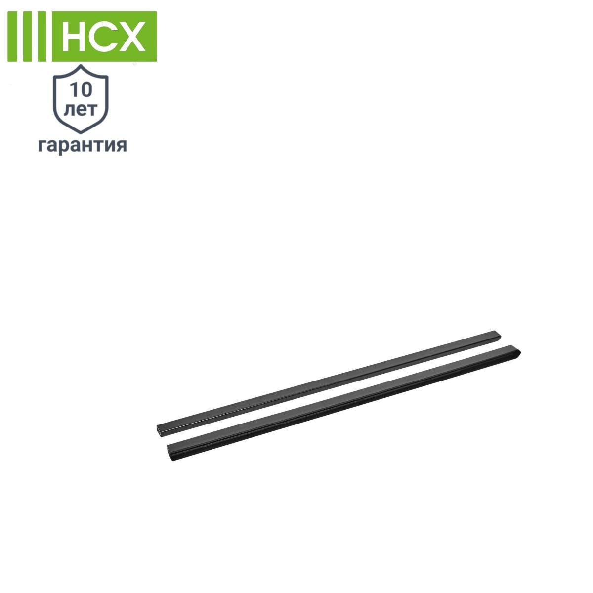 Декоративная накладка на кронштейн НСХ 164x84x390 мм цвет черный 2 шт