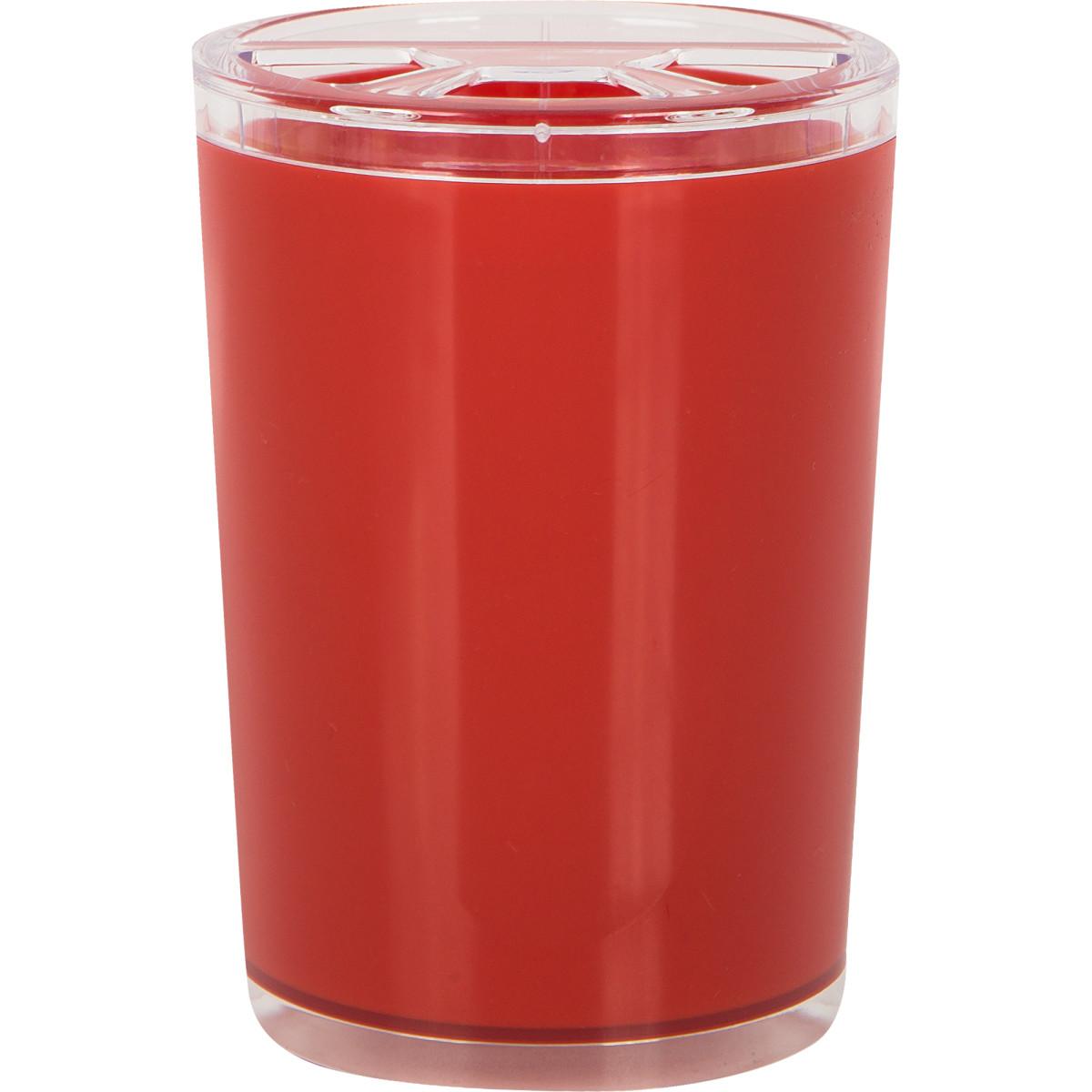 Стакан для зубных щеток Joli цвет красный