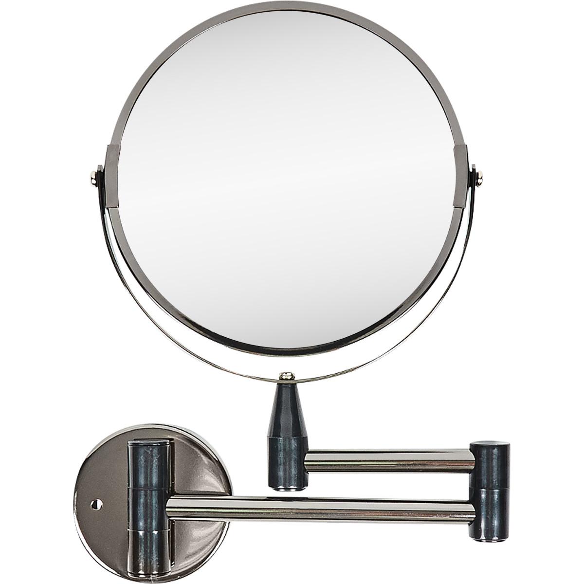 Зеркало настенное двустороннее Ø17 см цвет черный