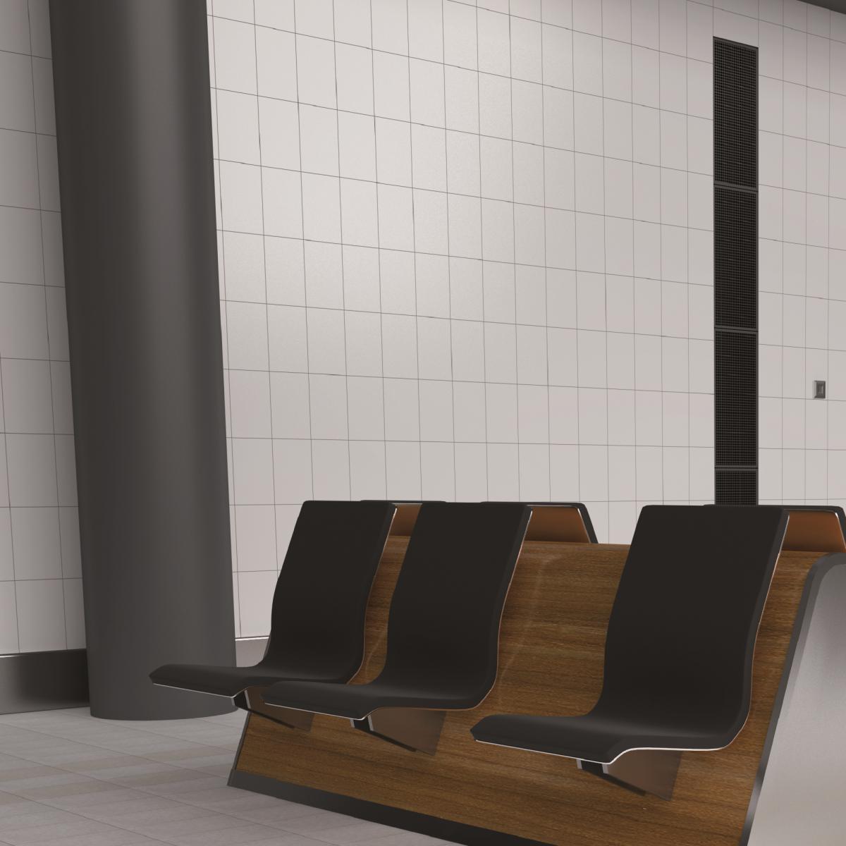 Плитка настенная Премиум 2VM 20x30 см 1.44 м² цвет белый