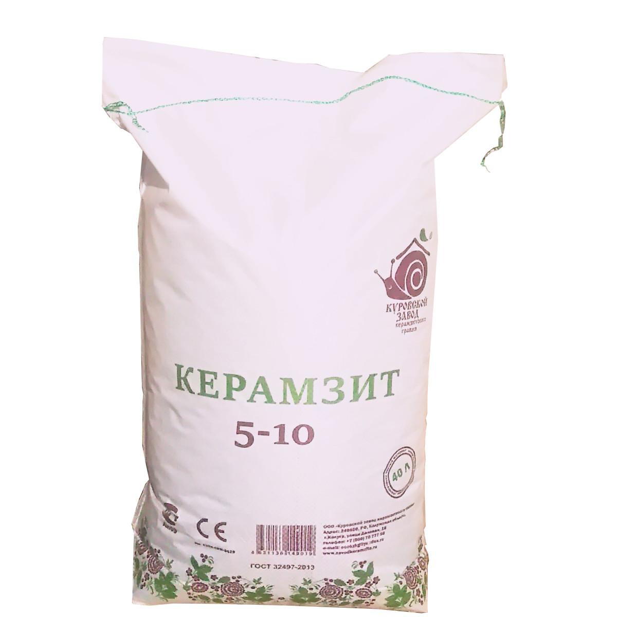 Керамзитовый гравий фракция 5-10 40 л