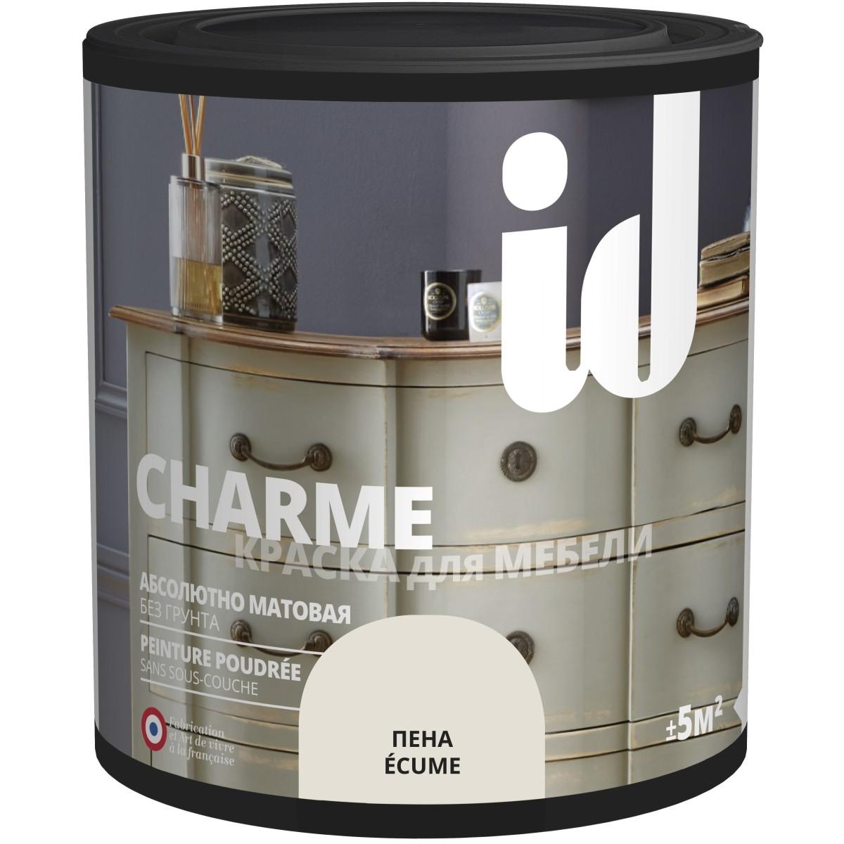 Краска для мебели ID Charme цвет пена 0.5 л