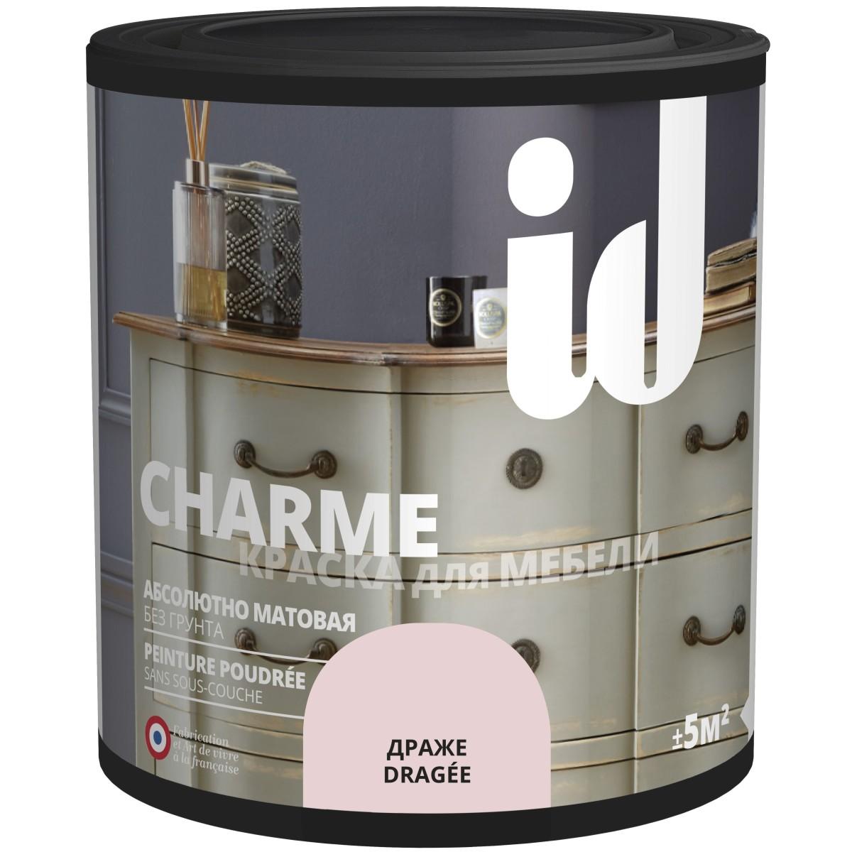 Краска для мебели ID Charme цвет драже 0.5 л