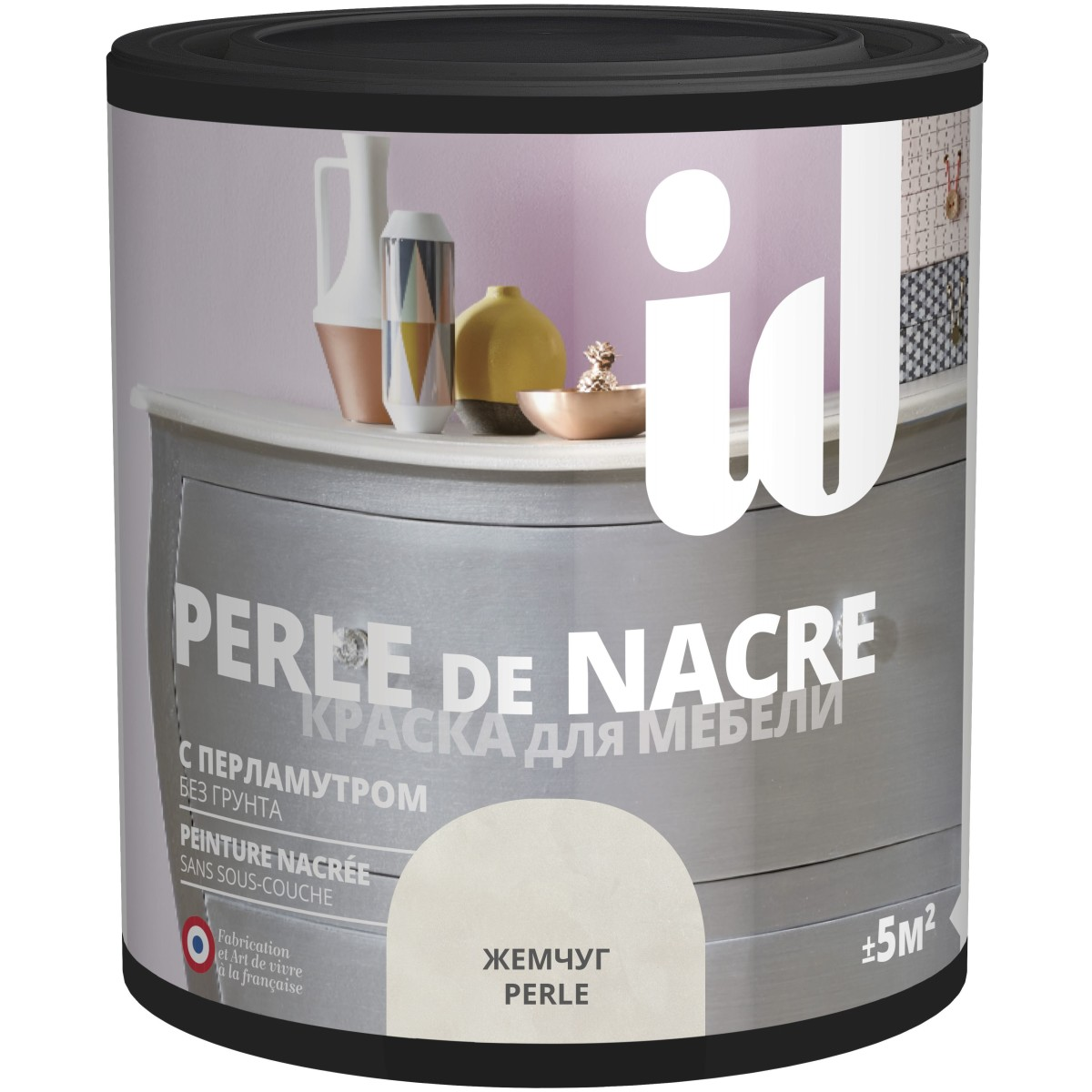 Краска для мебели ID Perle цвет жемчуг 0.5 л