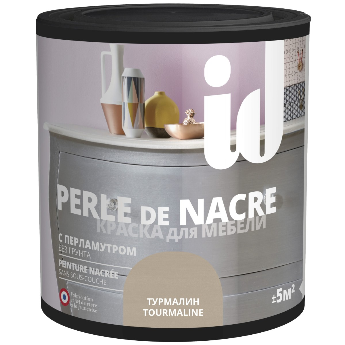Краска для мебели ID Perle цвет турмалин 0.5 л