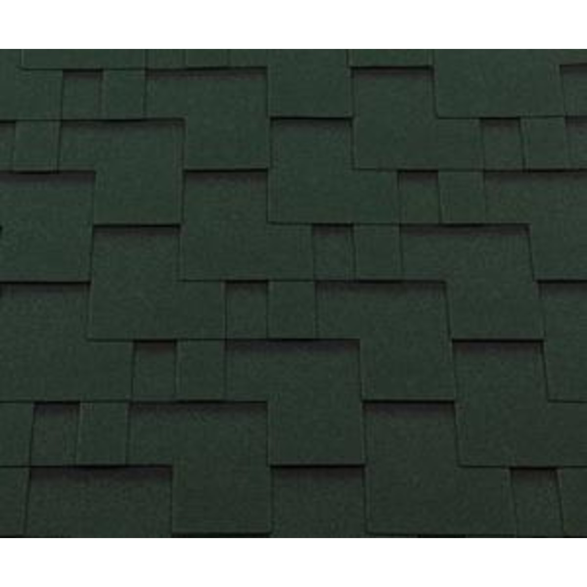 Черепица гибкая Roofshield модерн зеленый 3 м²