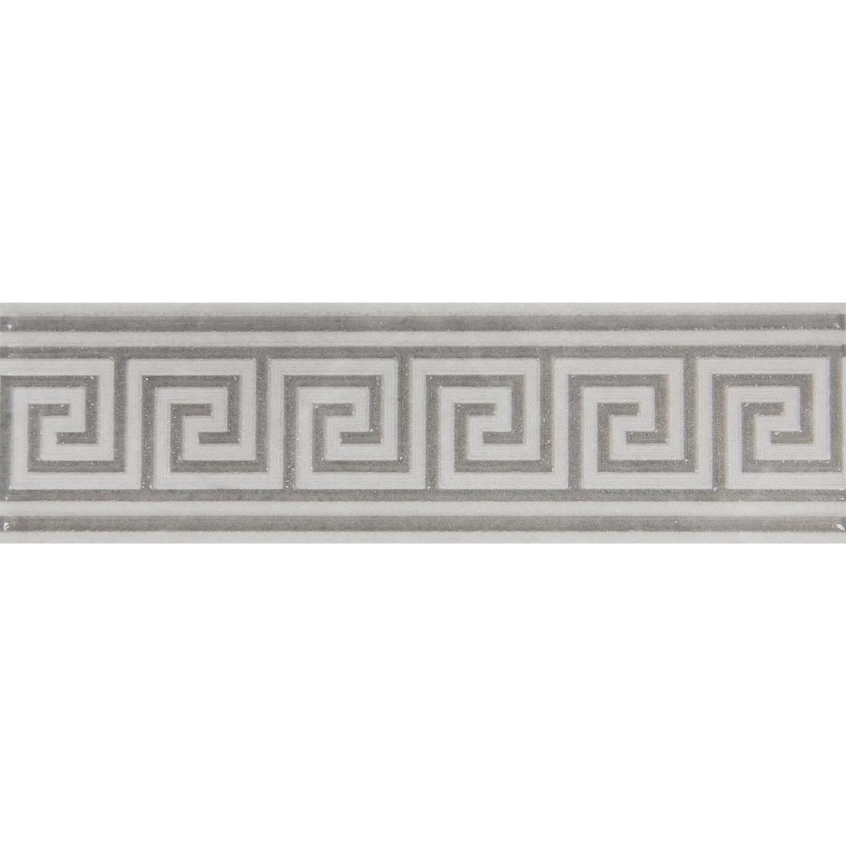 Бордюр «Дора» 20x5.7 см цвет серый