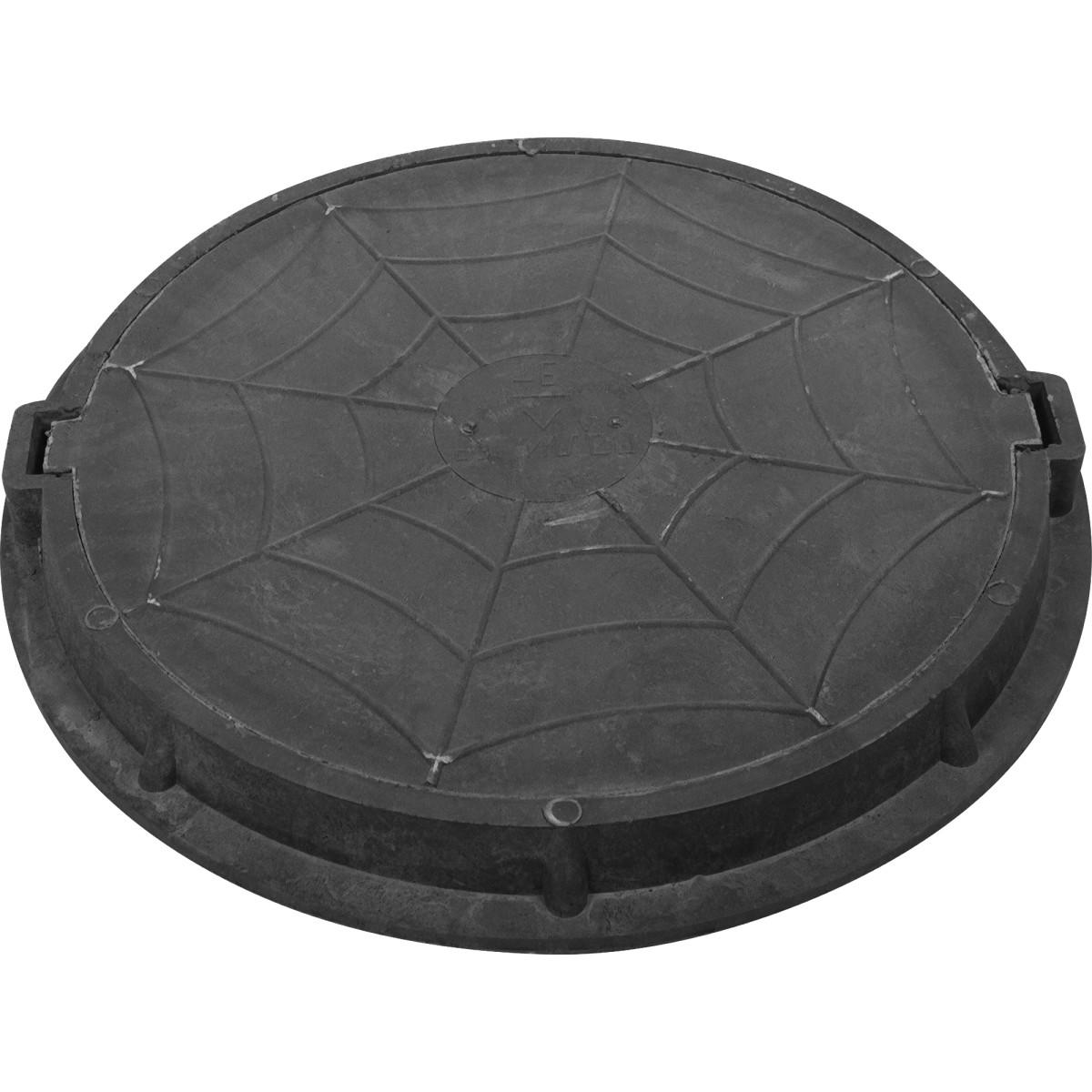 Люк дачный полимерпесчаный до 3 т. черный