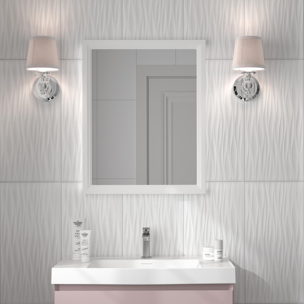 Плитка настенная Айс 3D 29.5х59.5 см см 1.08 м² цвет белый глянцевый