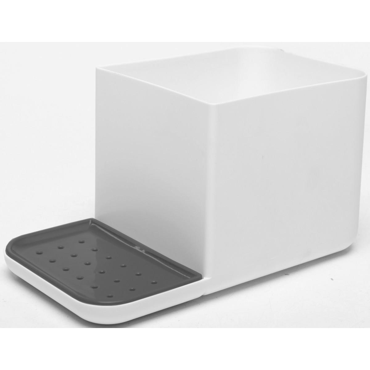 Органайзер кухонный для мойки пластик цвет белый