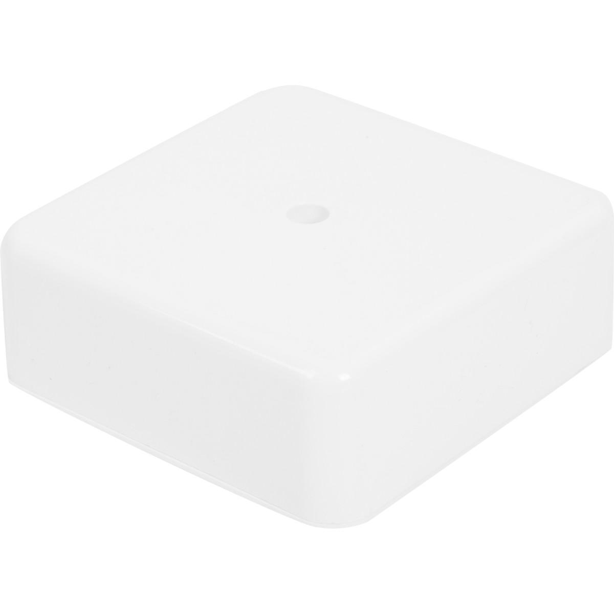 Коробка распределительная 75x75x28 мм цвет белый IP20