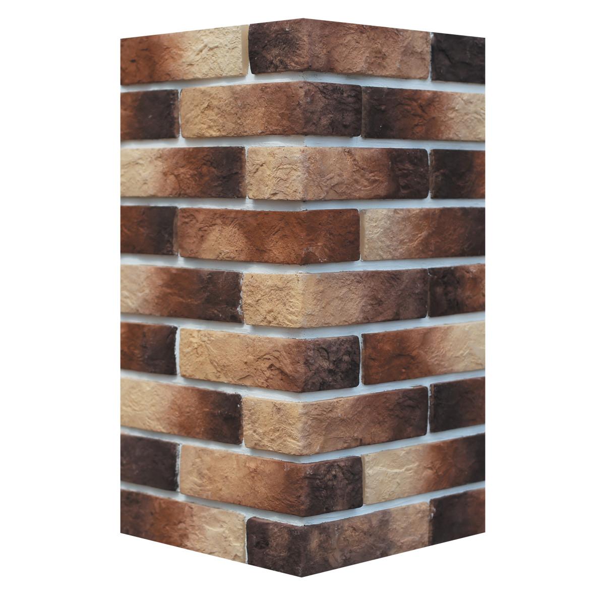Декоративная плитка угловая Альтен брик темно-коричн