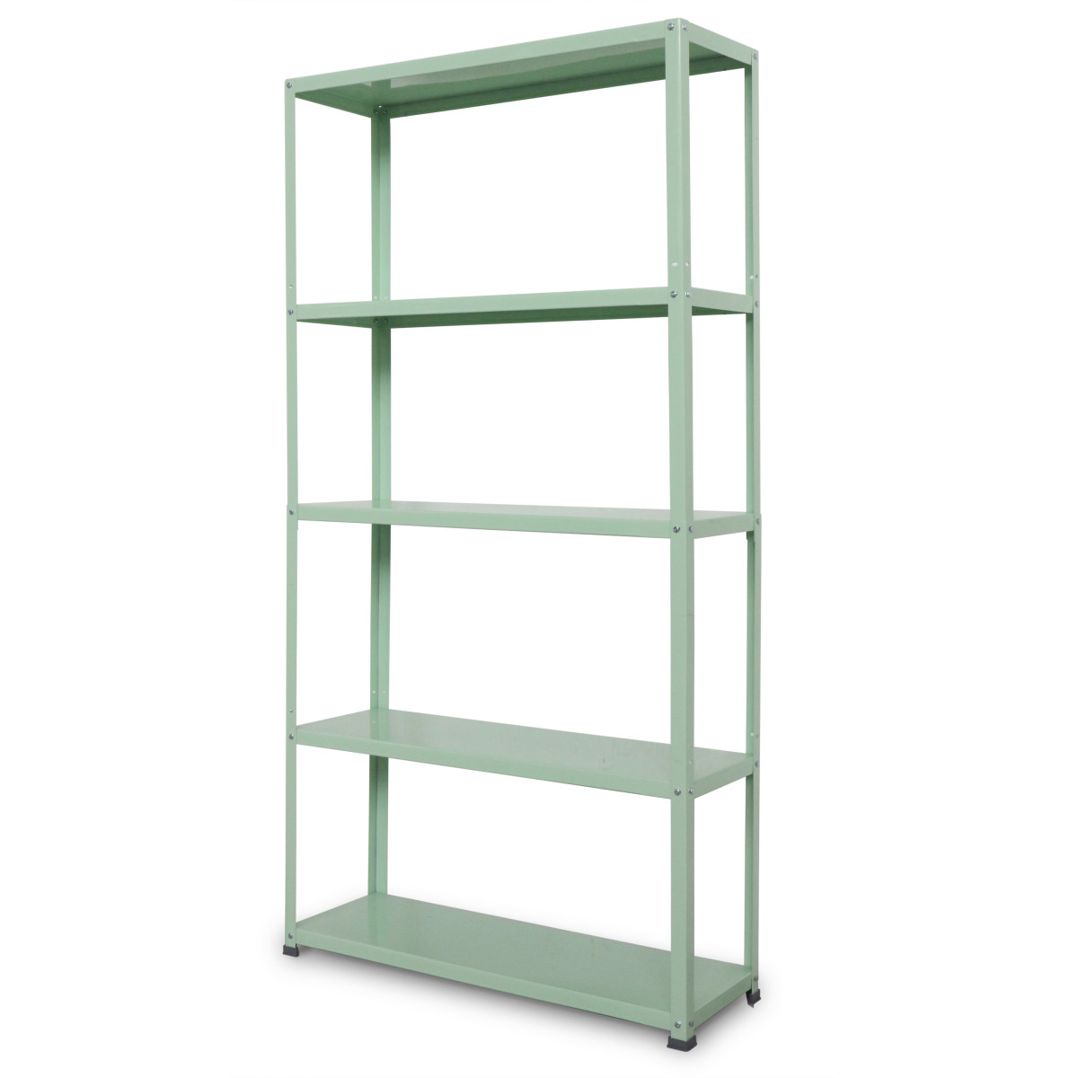 Стеллаж Colour 5 полок 90х172х30 см металл цвет зеленый
