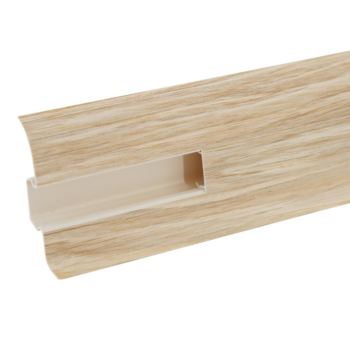 Плинтус напольный ПВХ Дуб сибирский высота 62 мм длина 2.5 м