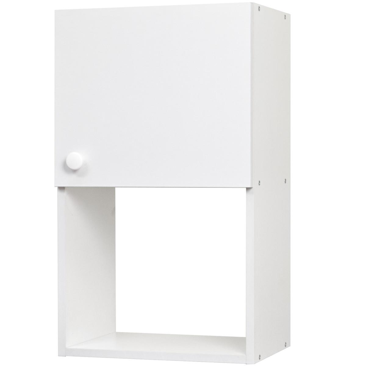Шкаф навесной Бэлла 20 Аква 40x67.6x29 см ЛДСП цвет белый