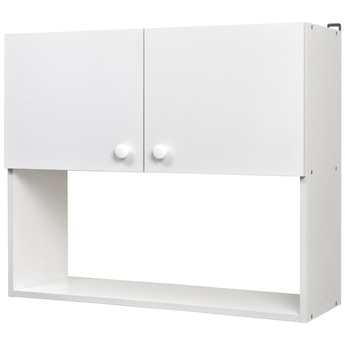 Шкаф навесной Бэлла 80x67.6x29 см ЛДСП цвет белый