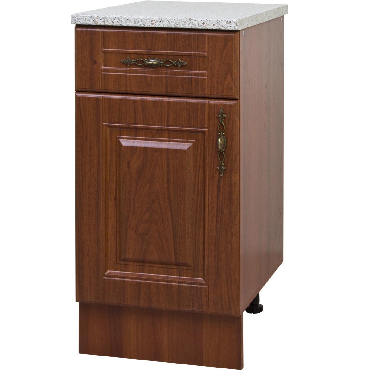 Шкаф напольный Орех Аква 40x86x60 см ЛДСП цвет коричневый