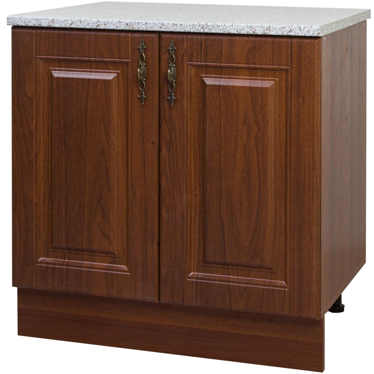 Шкаф напольный Delinia Орех Аква 80x86х60 см МДФ цвет коричневый