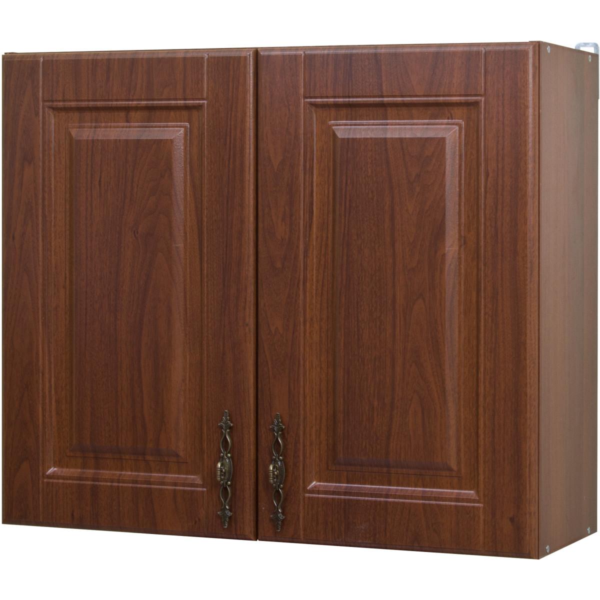 Шкаф навесной Орех Аква 80x68x29 см ЛДСП цвет коричневый