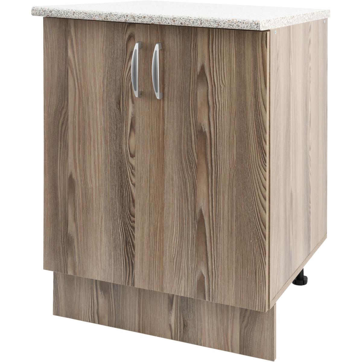 Шкаф напольный Delinia Дуб Шато Аква 60x85х60 см ЛДСП цвет коричневый