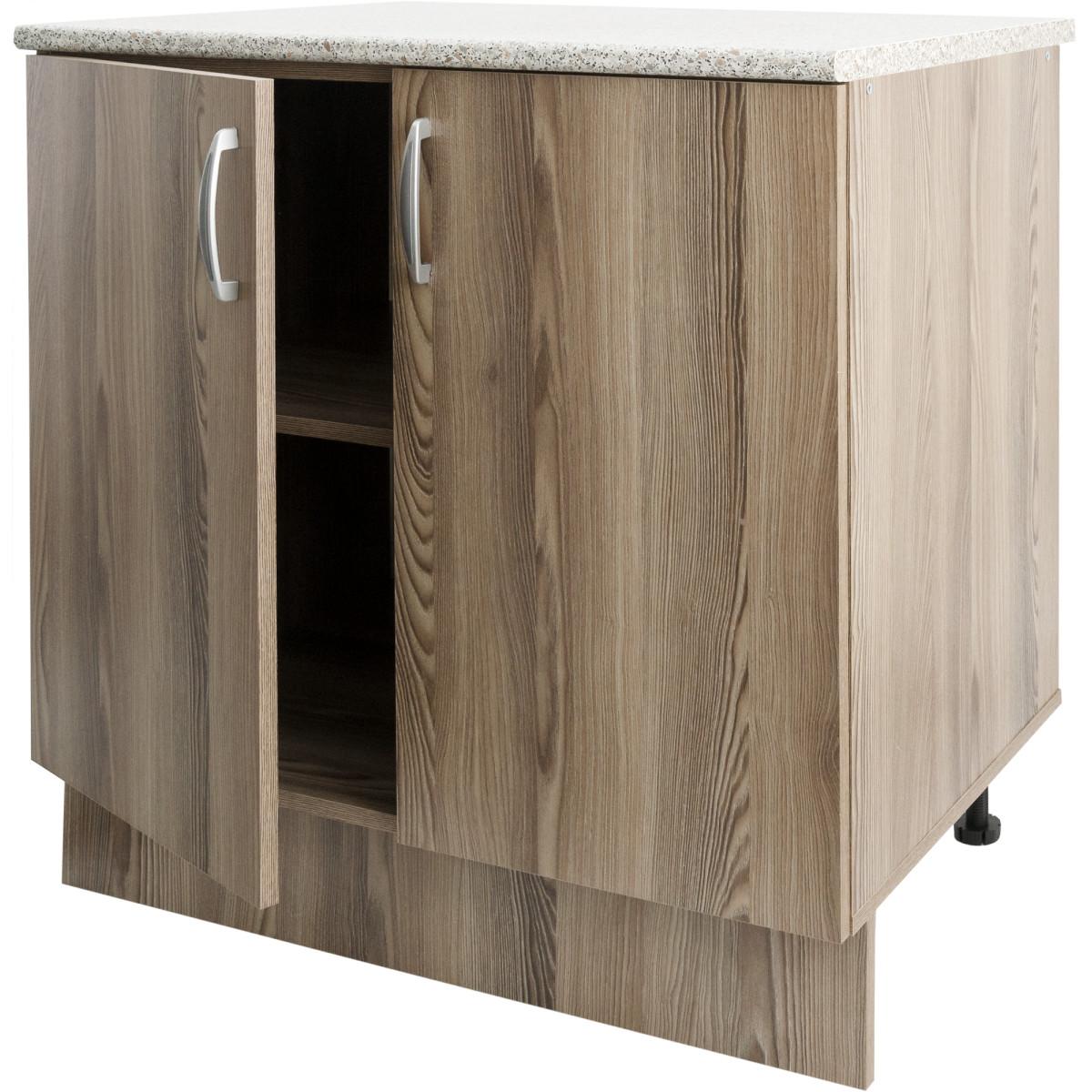 Шкаф напольный Delinia Дуб Шато Аква 80x85х60 см ЛДСП цвет коричневый