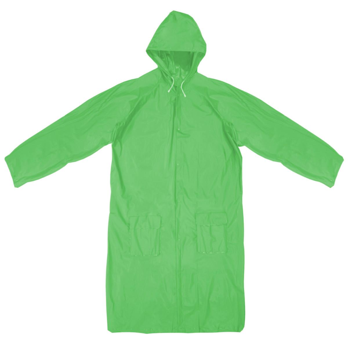 Плащ-дождевик размер S цвет зеленый