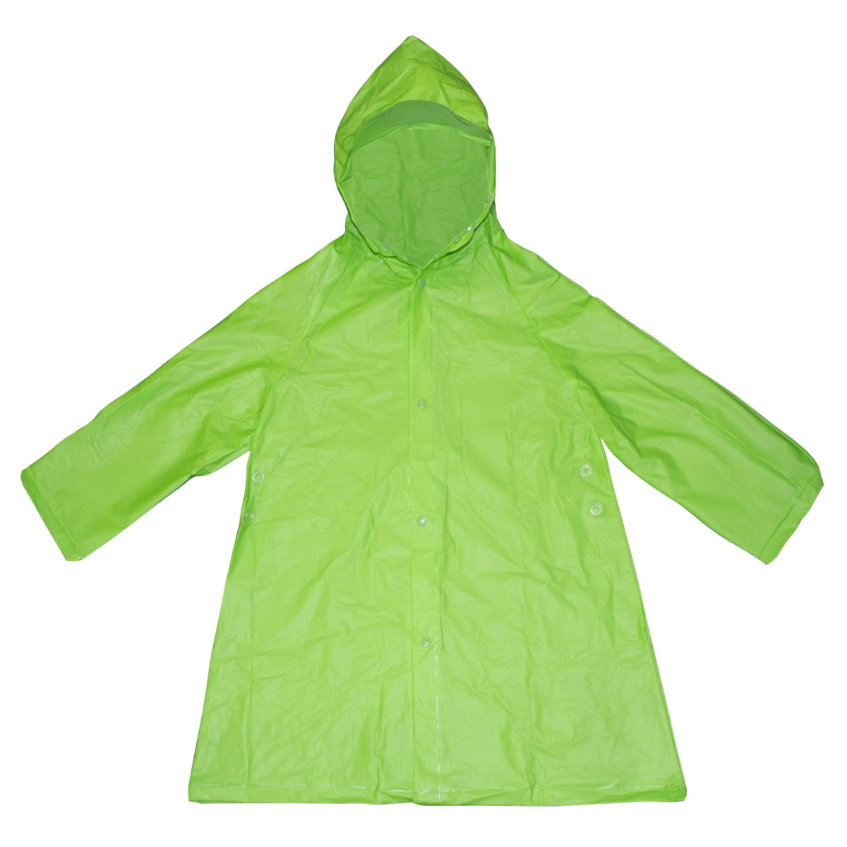 Плащ-дождевик детский размер S цвет зеленый