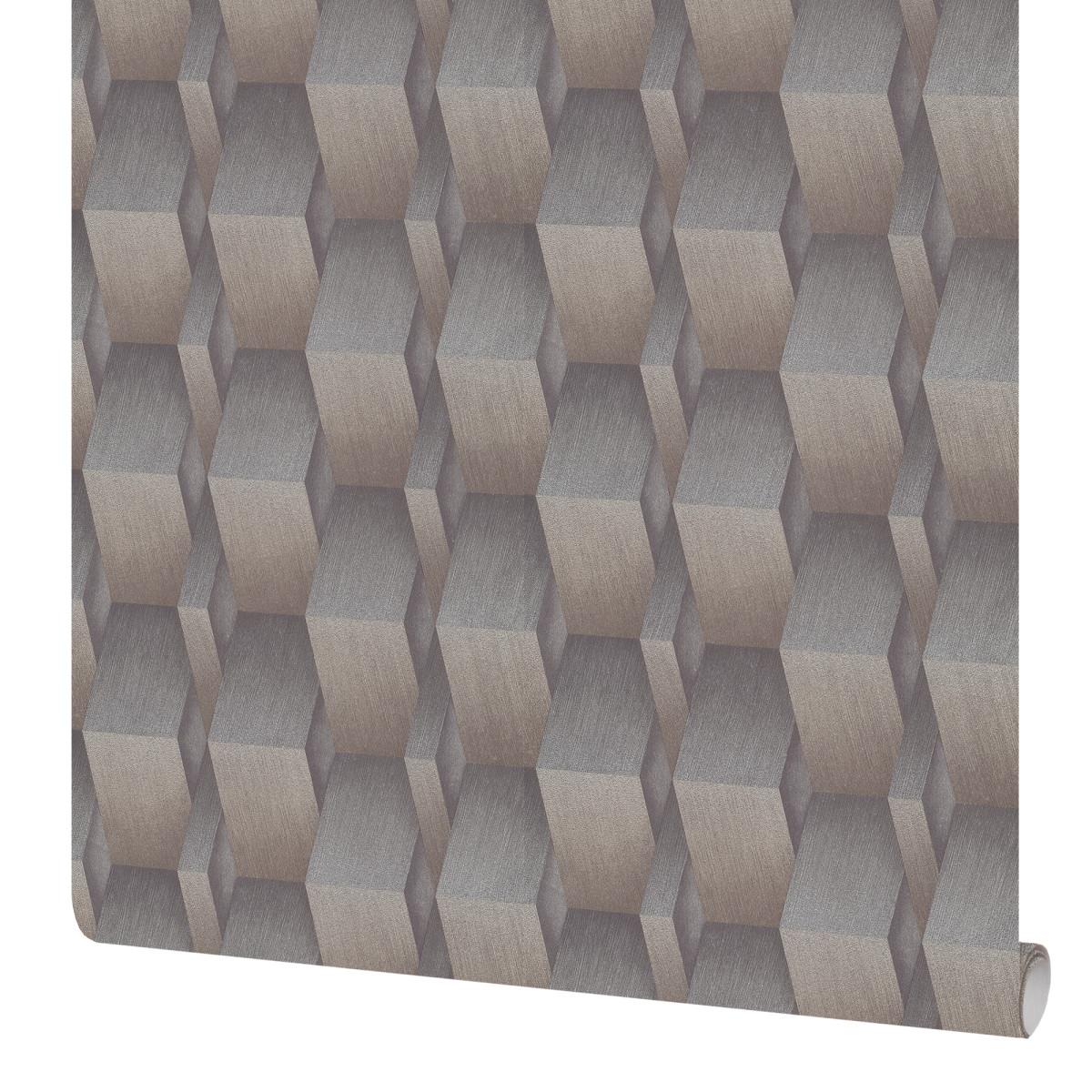 Обои флизелиновые Erismann Fashion for walls серо-коричневые 1.06 м 12036-30