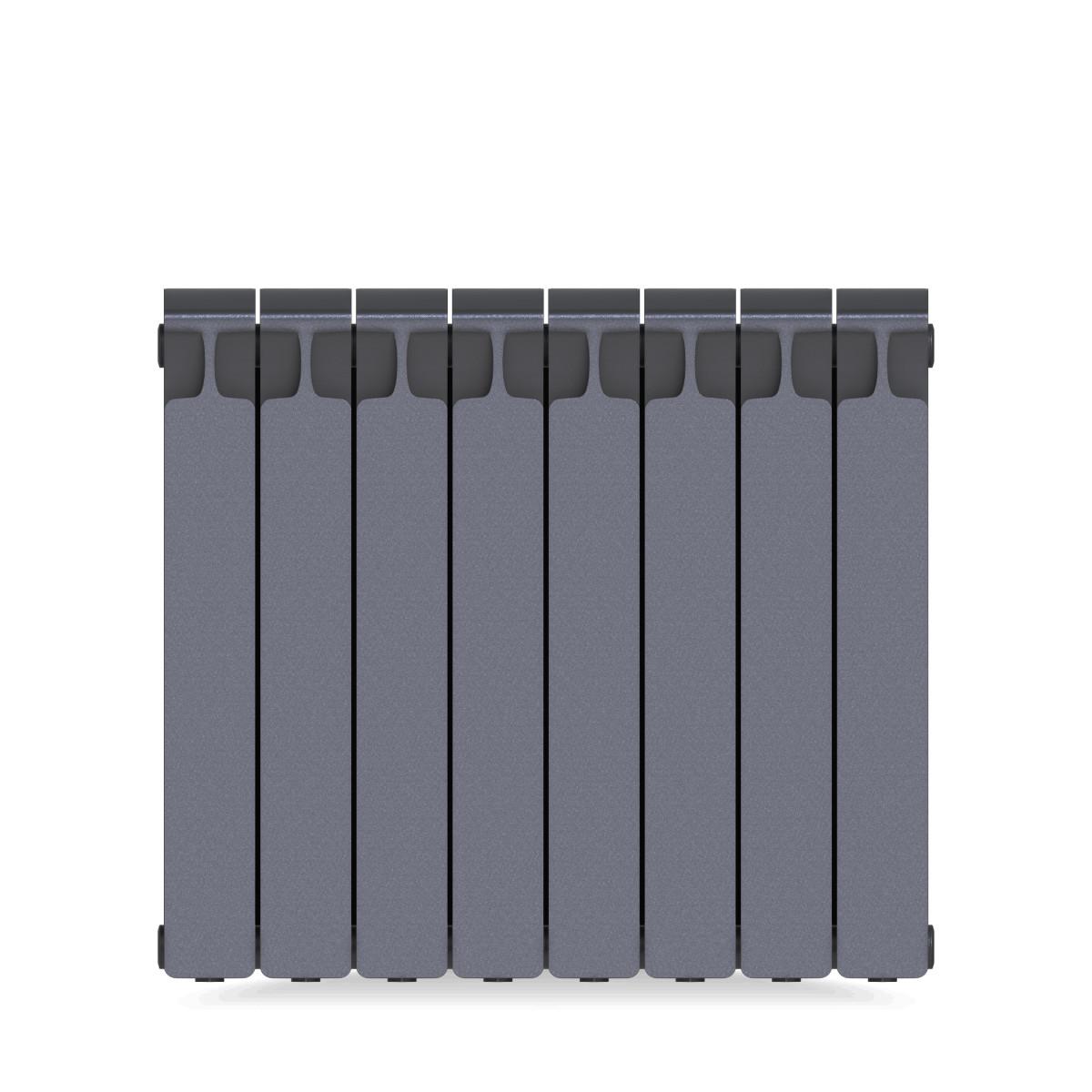Радиатор Rifar Monolit 500 8 секций цвет серый биметалл